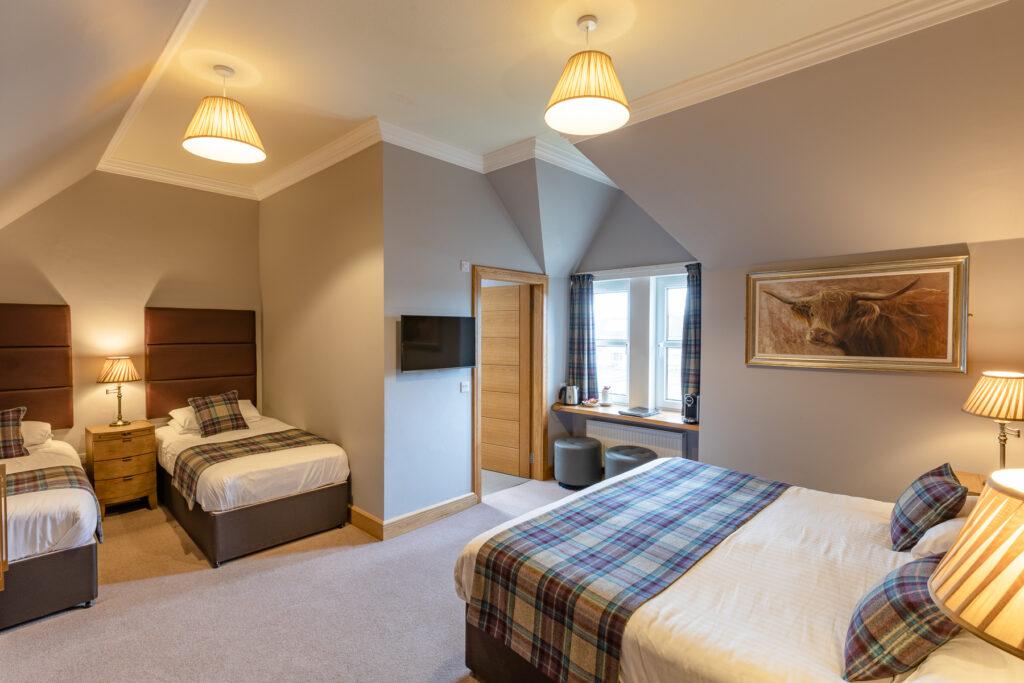 Ravelston House Musselburgh hotel comfortable family room sleeps 4 people